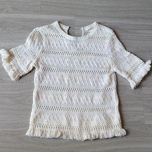 Crochet Top with Tassel Fringe